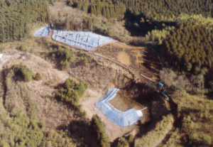 Panoramic view of the site